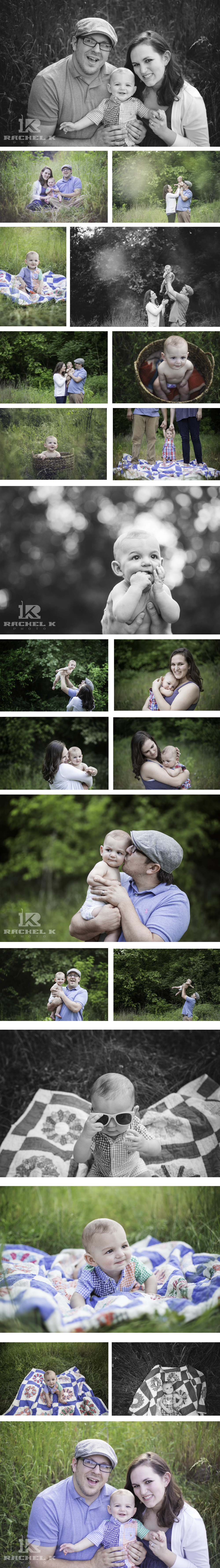 Knoxville photographer Rorex family 6 month old shoot