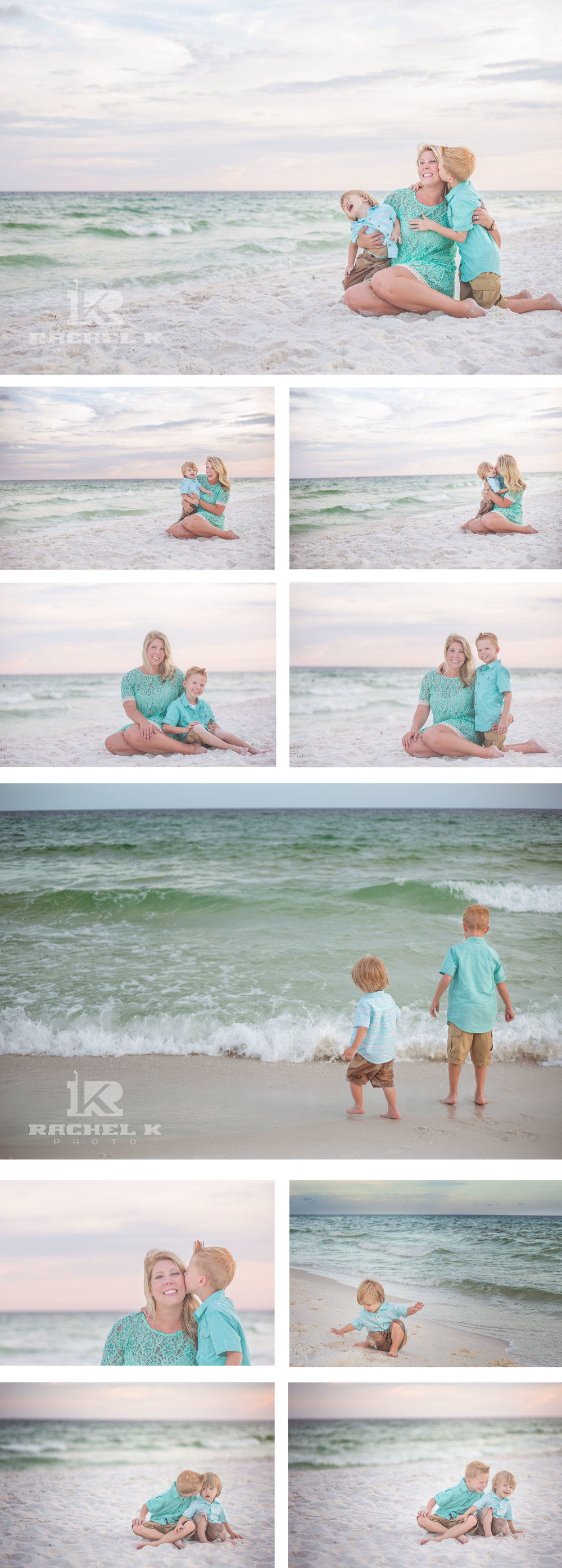 Family photos on the beach with Knoxville TN photographer Rachel K Photo