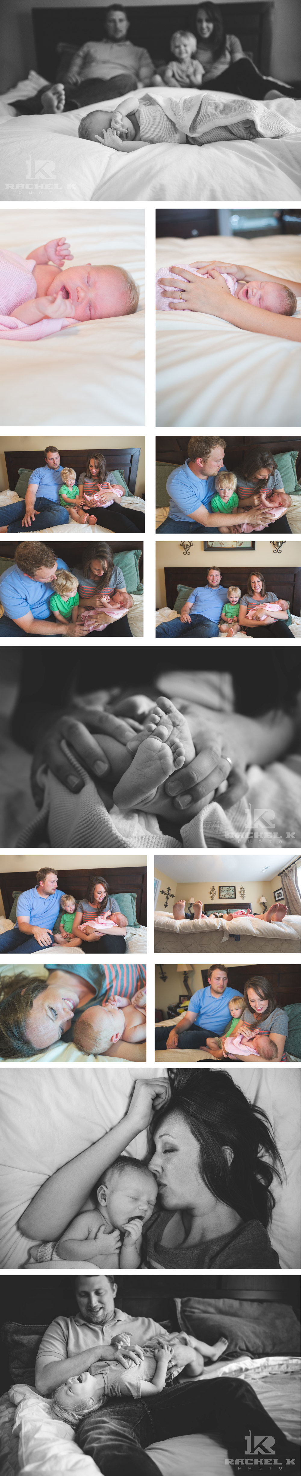 Newborn lifestyle session by Rachel K Photo