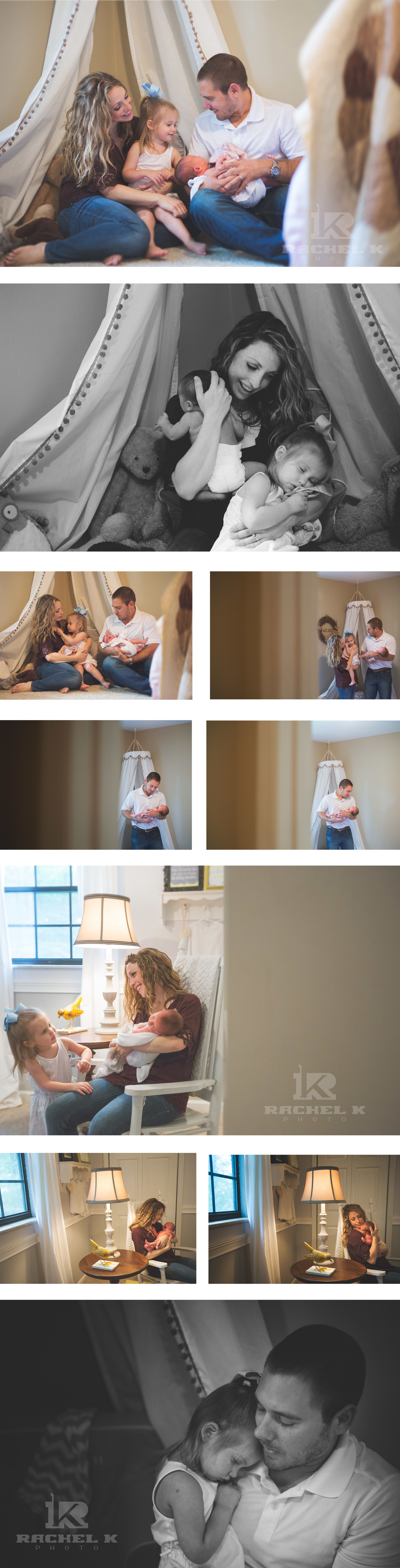 Rachel K Photo Knoxville lifestyle newborn session