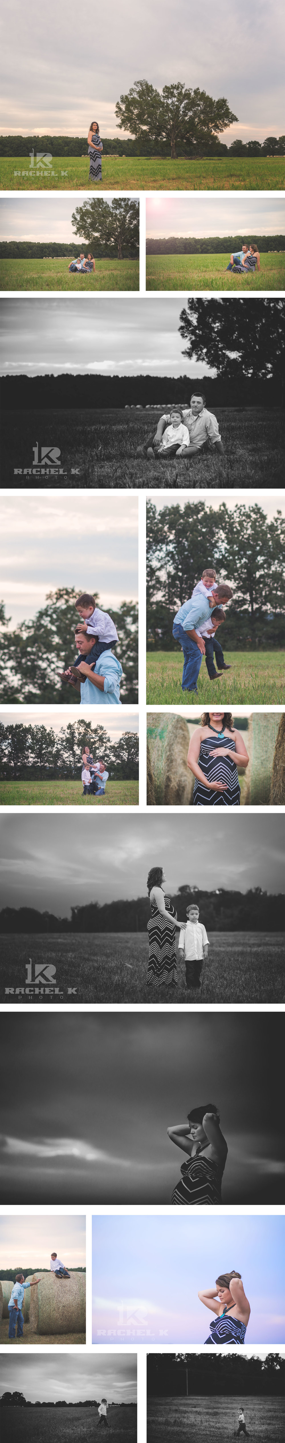 Field maternity session by Rachel K Photo in Arkansas