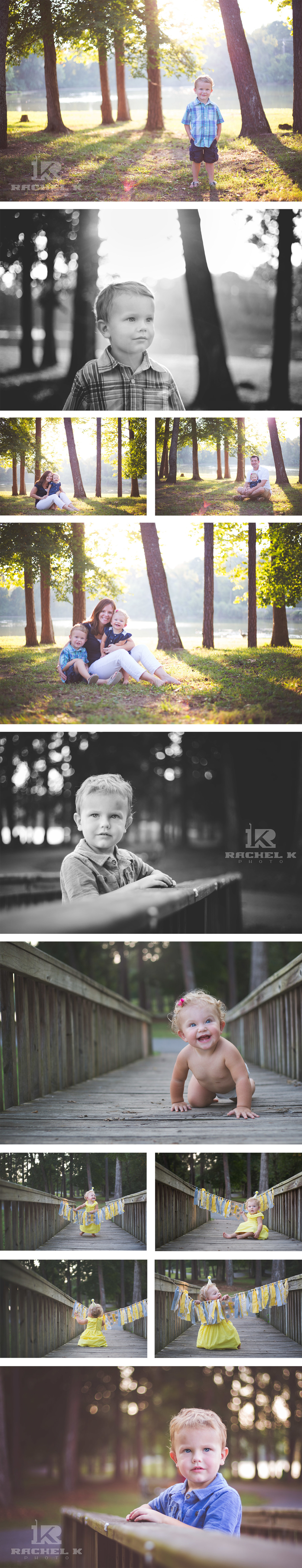 One year session with Rachel K Photo in Knoxville park