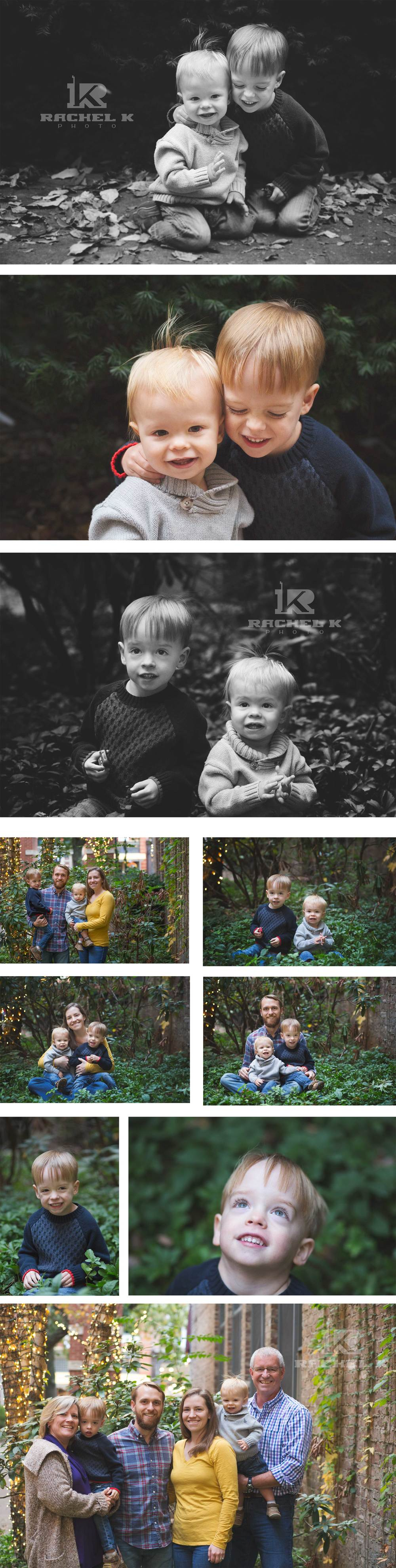 outdoor family photo session in Arlington, VA