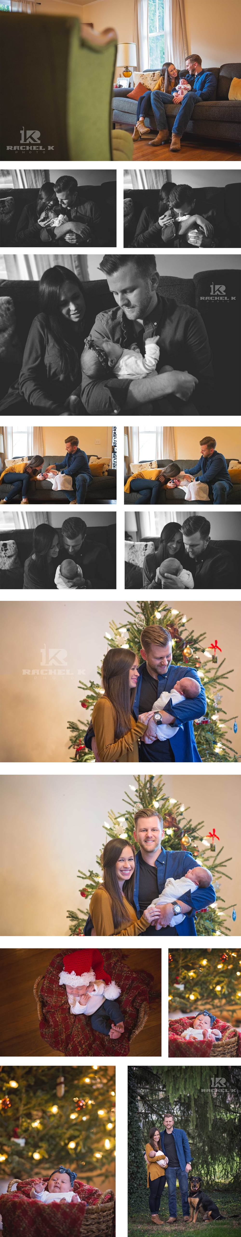 Newborn christmas lifestyle session in Knoxville TN