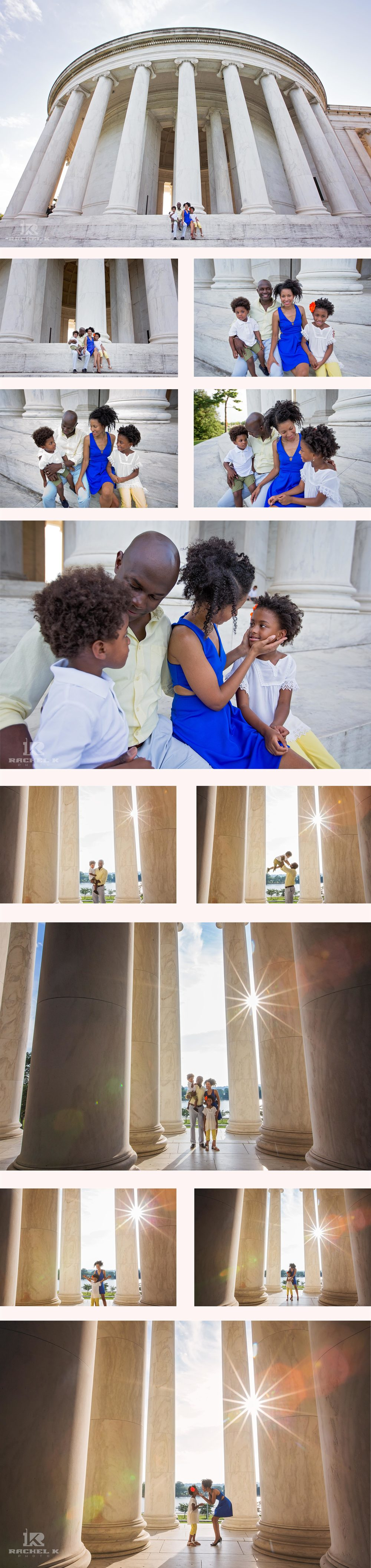 Jefferson memorial family photography session by Rachel K Photo