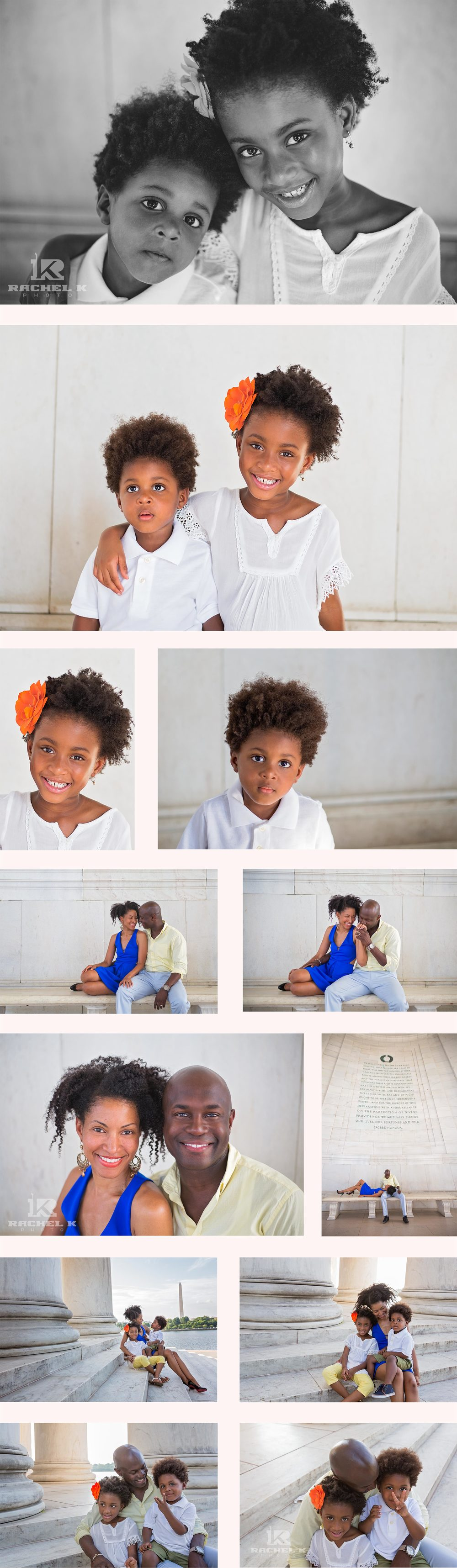 Jefferson memorial family session by Rachel K Photo