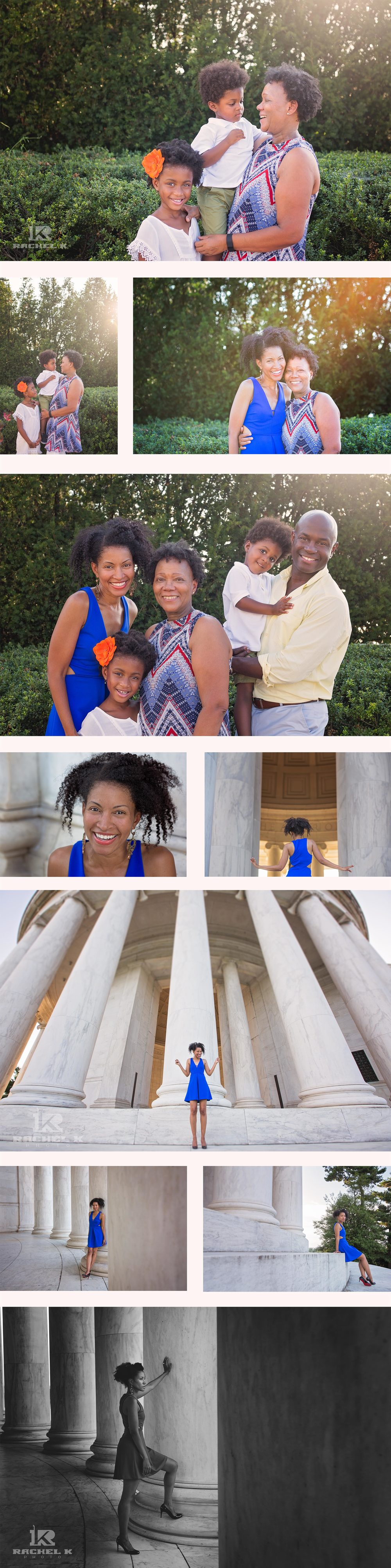 Jefferson memorial DC family photography session by Rachel K Photo