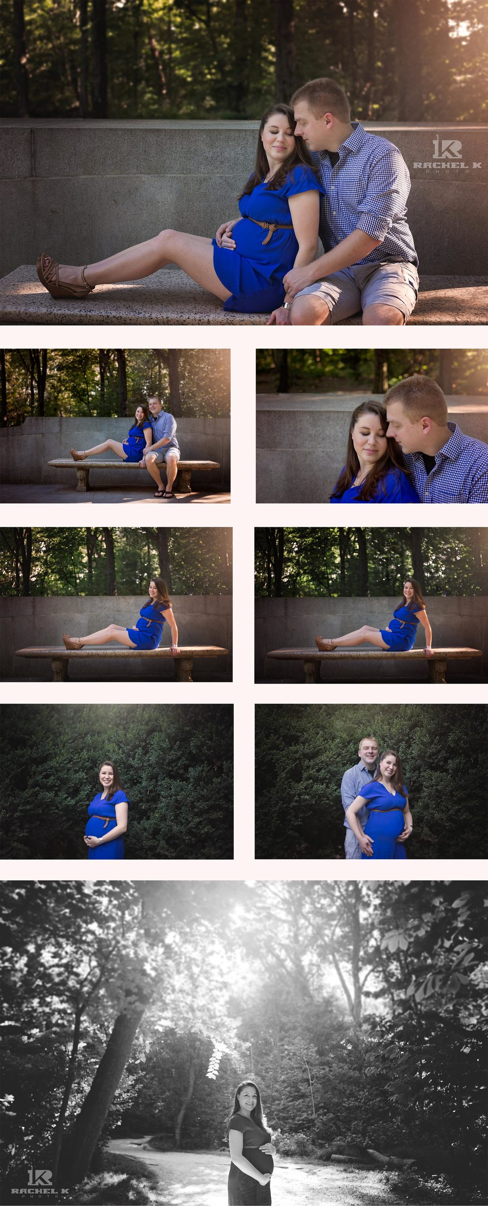 Maternity session with puppy by Rachel K Photo