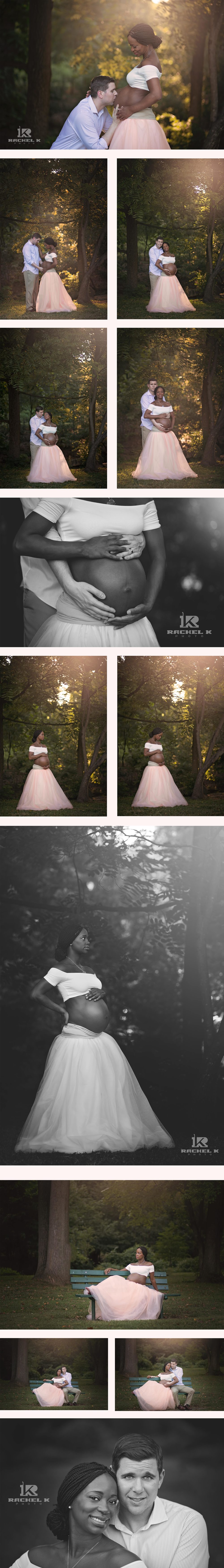 Tulle skirt maternity session by Rachel K Photo