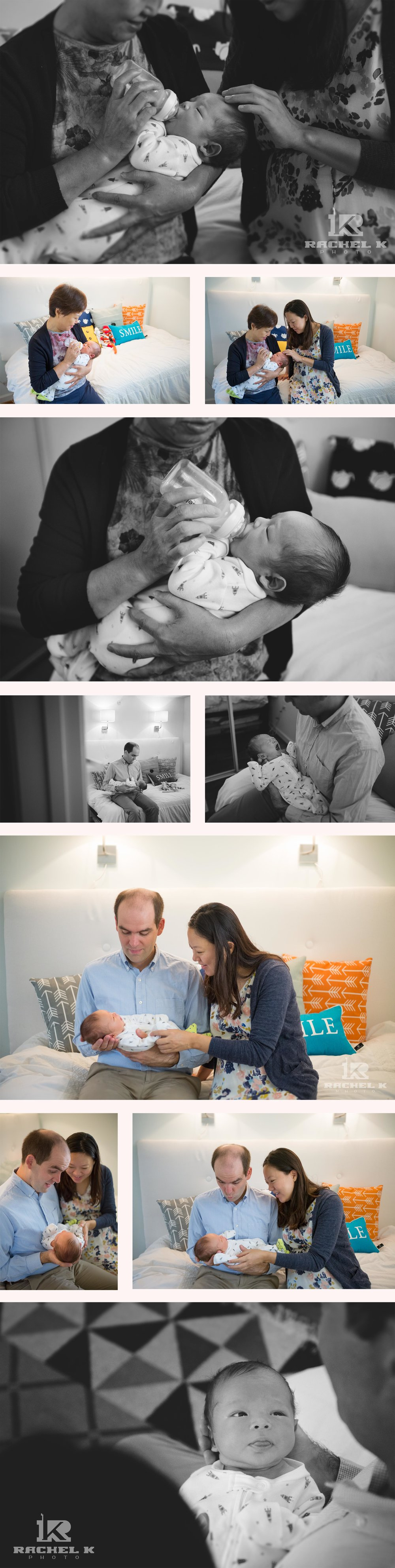 Rachel K Photo newborn lifestyle session in Arlington Virginia