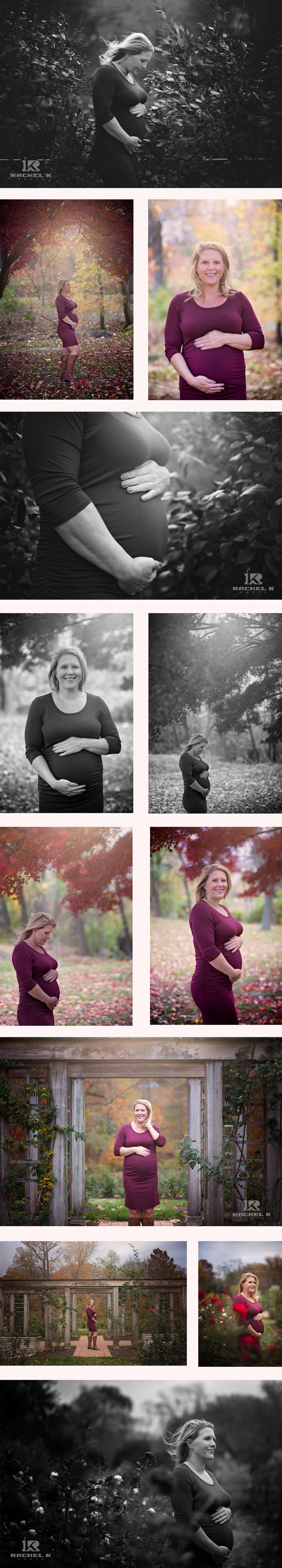 Arlington, VA winter maternity session by Rachel K Photo