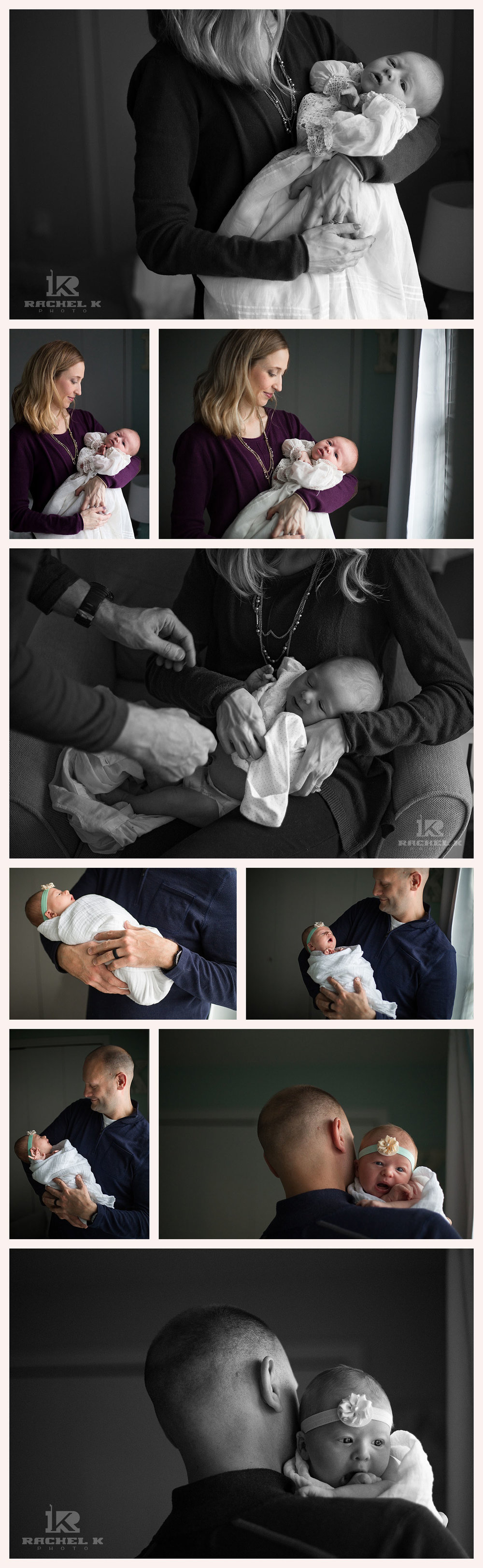 Northern Virginia lifestyle newborn session by Rachel K Photo