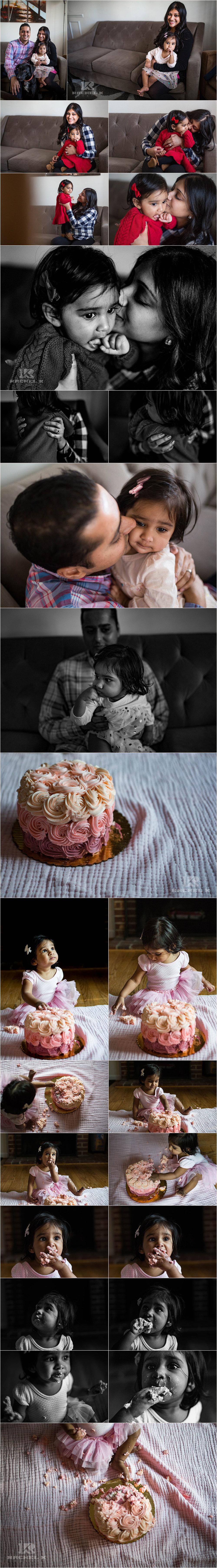 Arlington VA cake smash session by Rachel K Photo