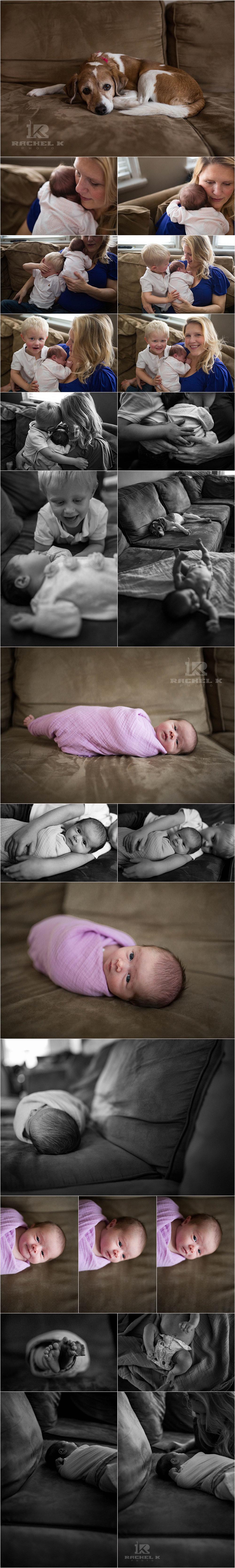 DC Newborn lifestyle session by Rachel K Photo