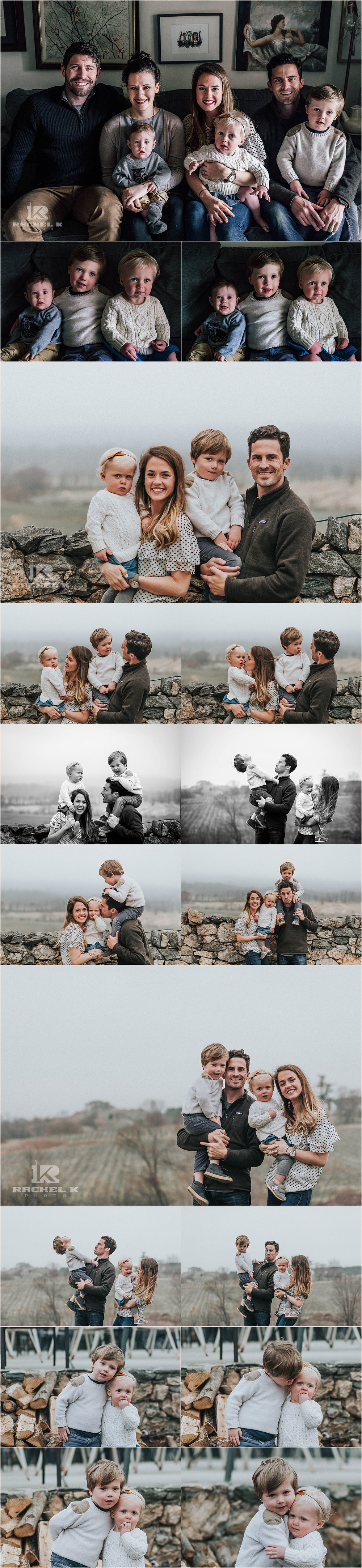 Foggy family session by Rachel K Photo in Northern Virginia