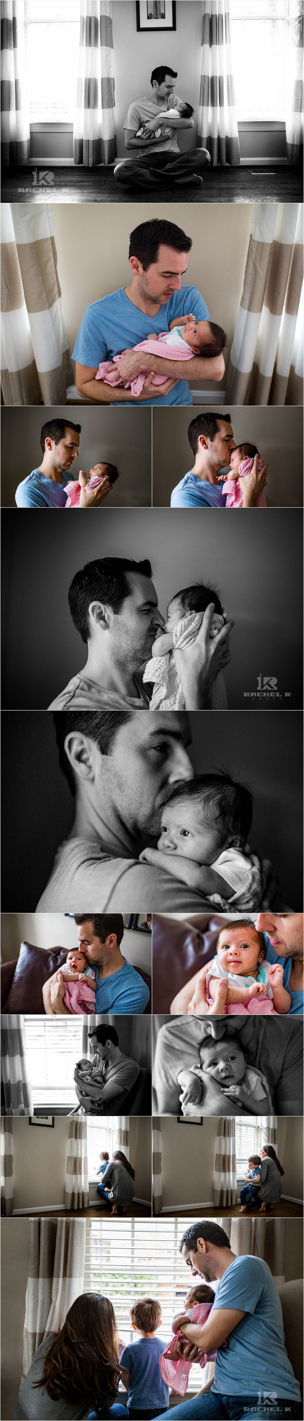 Newborn lifestyle photos by Rachel K Photo in Washington DC