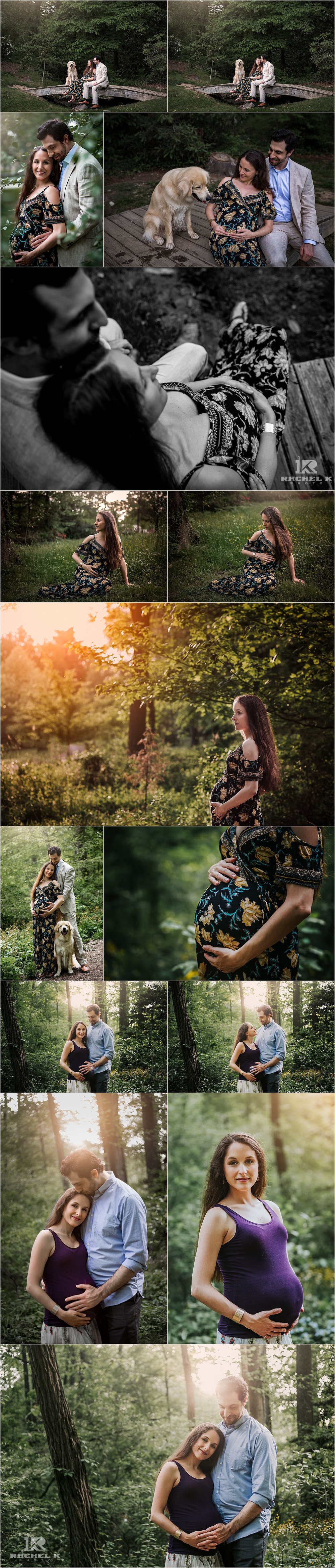 Green Springs Gardens Alexandria maternity session by Rachel K Photo