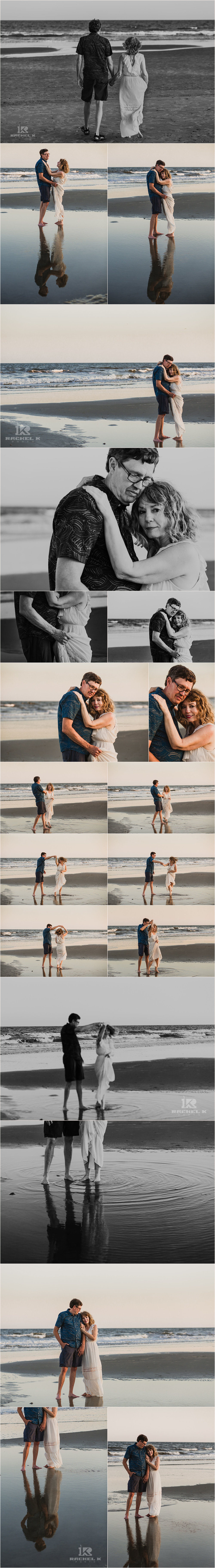 Folly beach anniversary session by Rachel K Photo