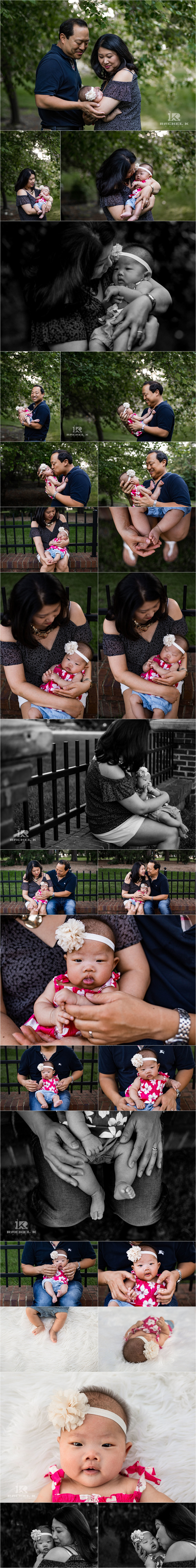 3 month old family neighborhood session in DC by Rachel K Photo