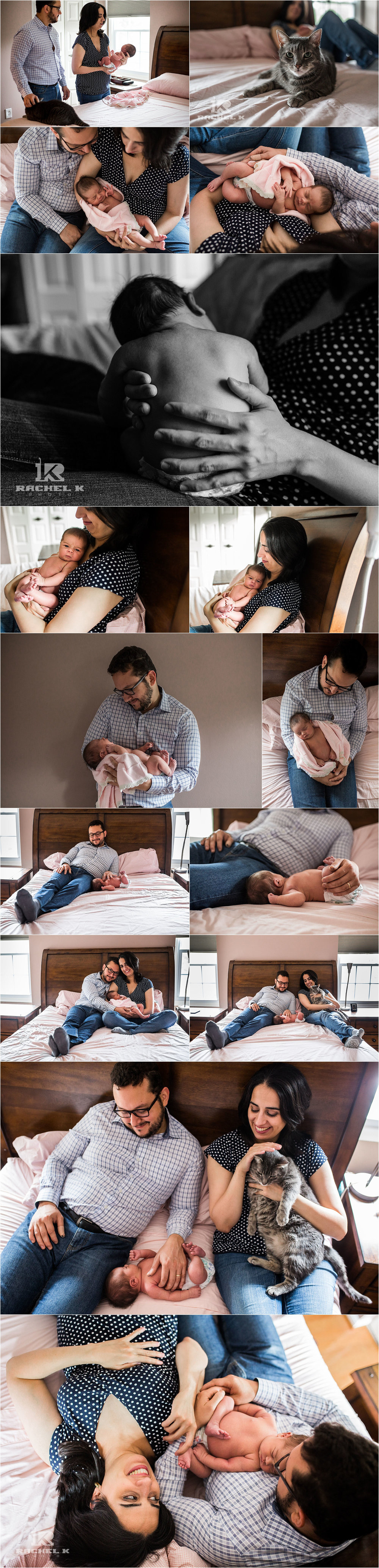 DC lifestyle newborn session by Rachel K Photo