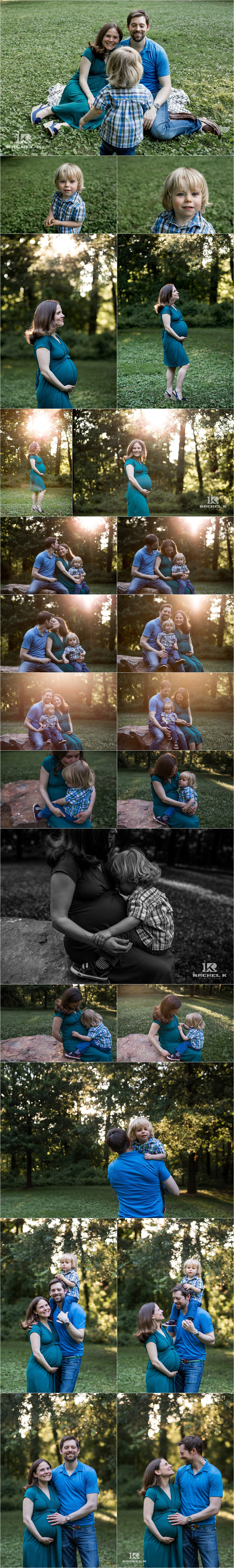 Northern Virginia maternity session with toddler