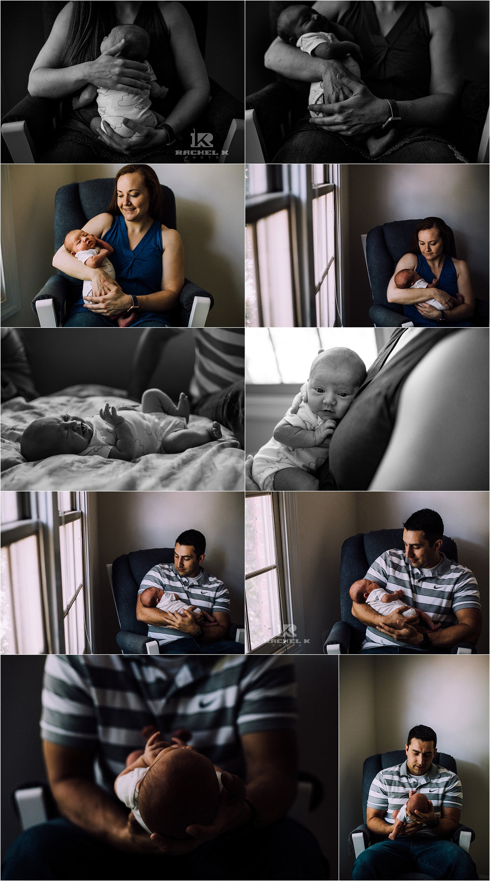 Arlington Virginia baby girl lifestyle session by Rachel K Photo