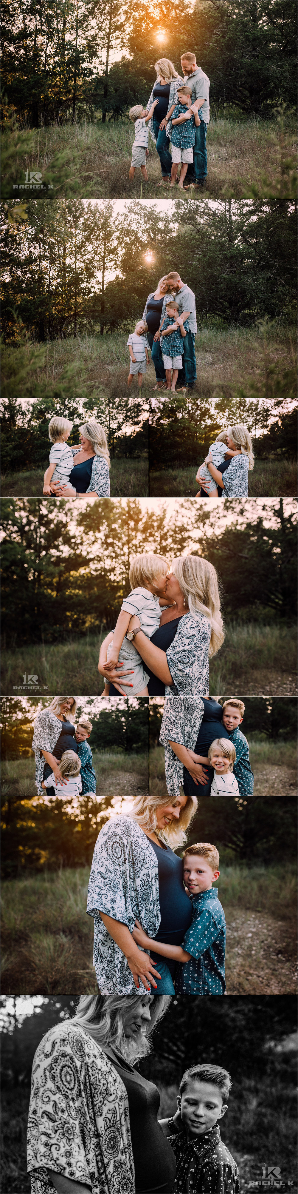 family maternity session in Branson MO by Rachel K Photo