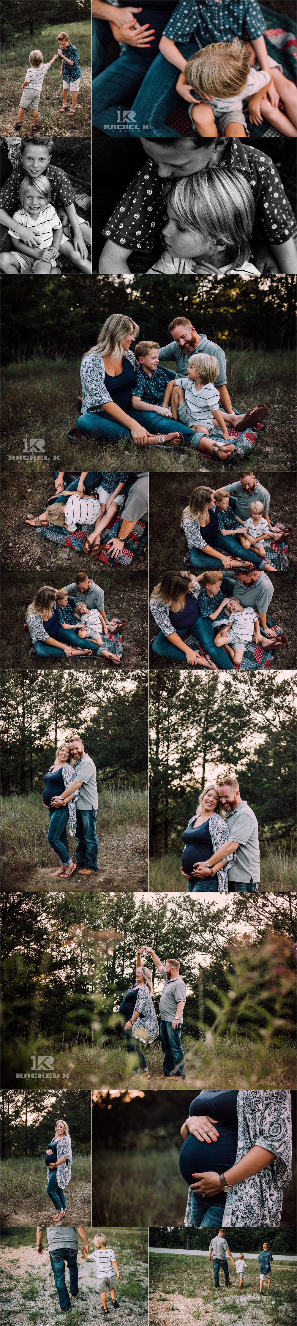 family maternity session in Branson by Rachel K Photo