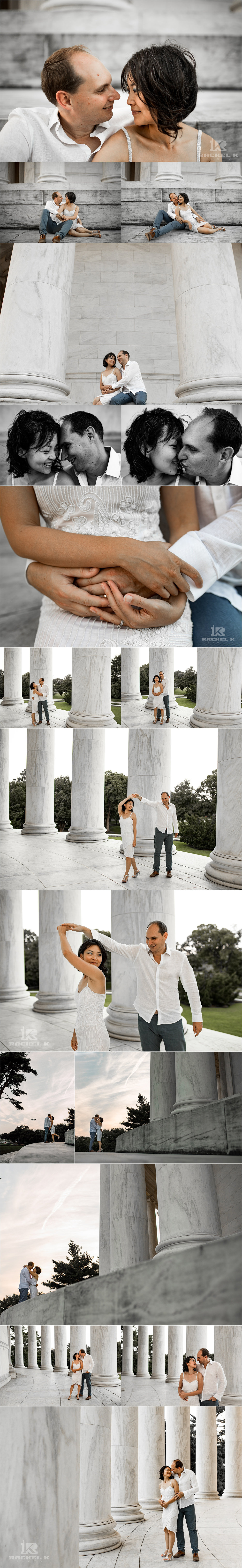 Jefferson memorial photography session by Rachel K Photo