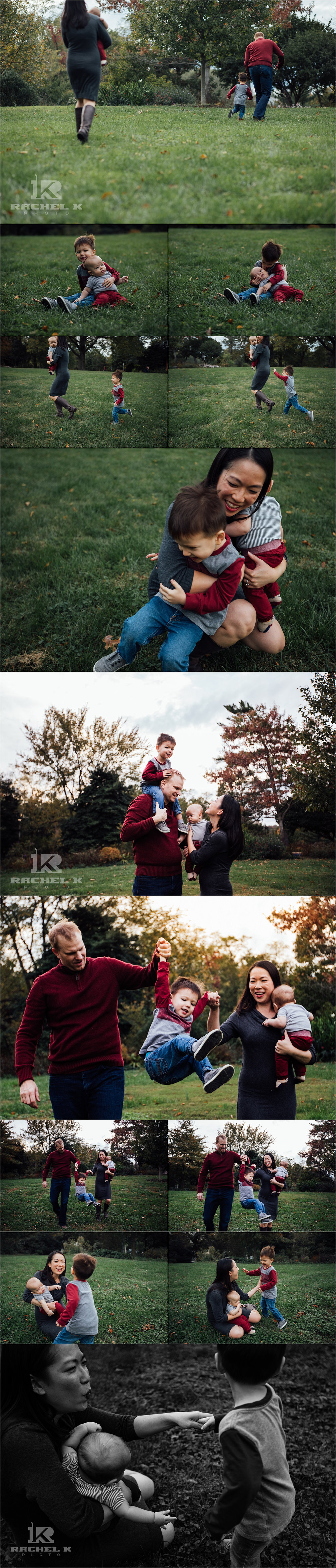 Centreville lifestyle family session at Green Springs Gardens by Rachel K Photo