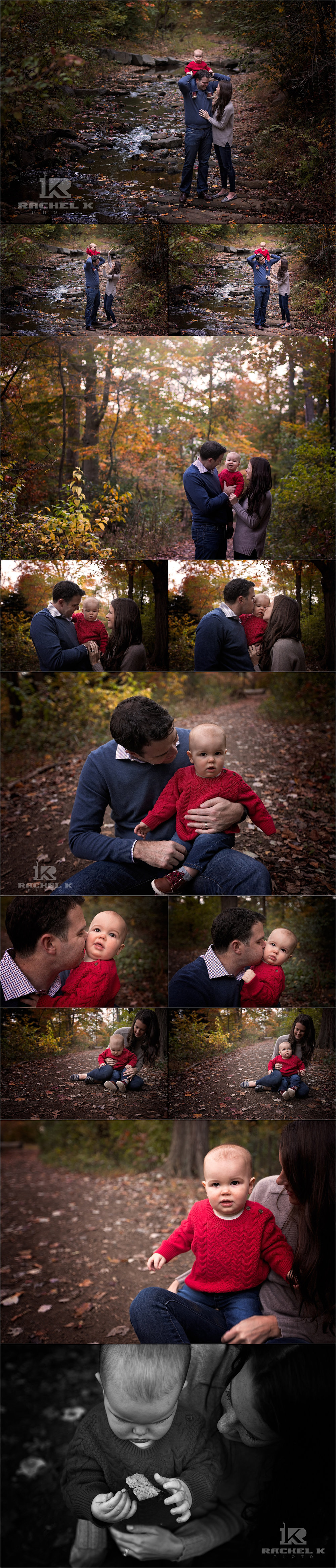 Fall family session with baby by Fairfax Virginia family photographer Rachel K Photo