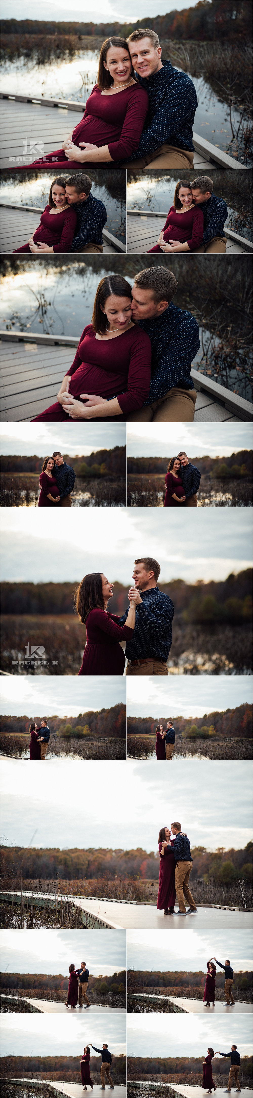 Fairfax Virginia maternity session at Huntley Meadows by Rachel K Photo