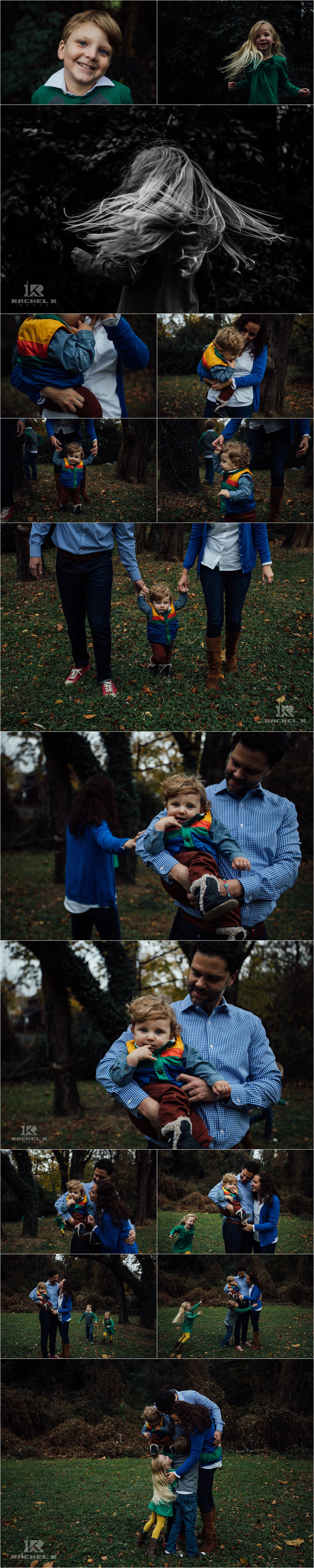 Three kids family session in Arlington Virginia by Rachel K Photo