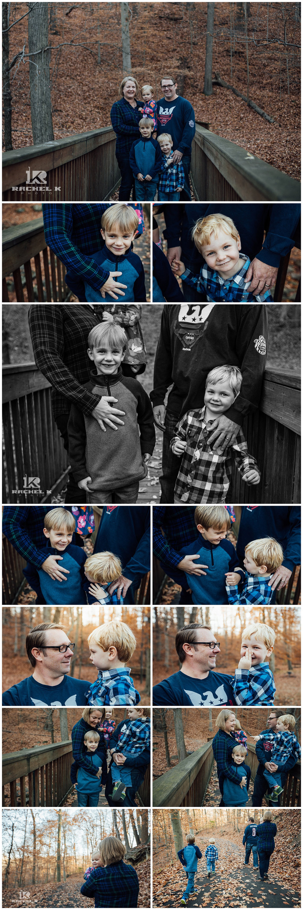 Fairfax county winter family session with three kids by Rachel K Photo