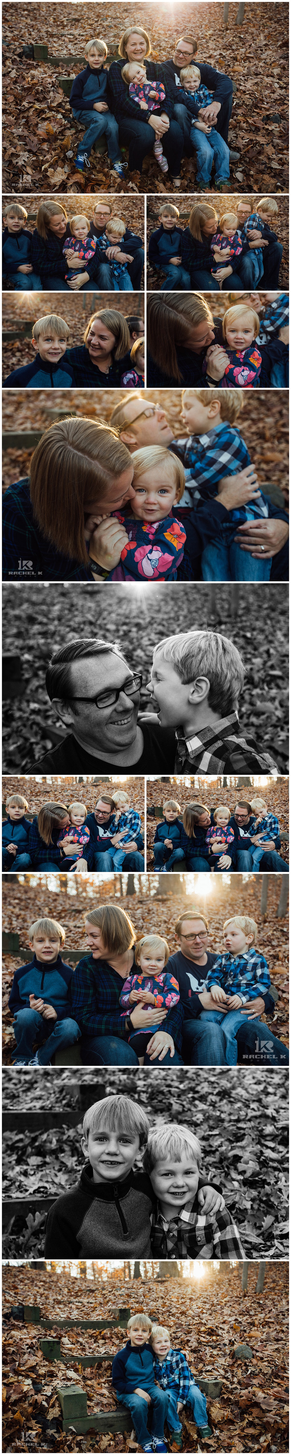Fairfax Virginia winter family session with three kids by Rachel K Photo