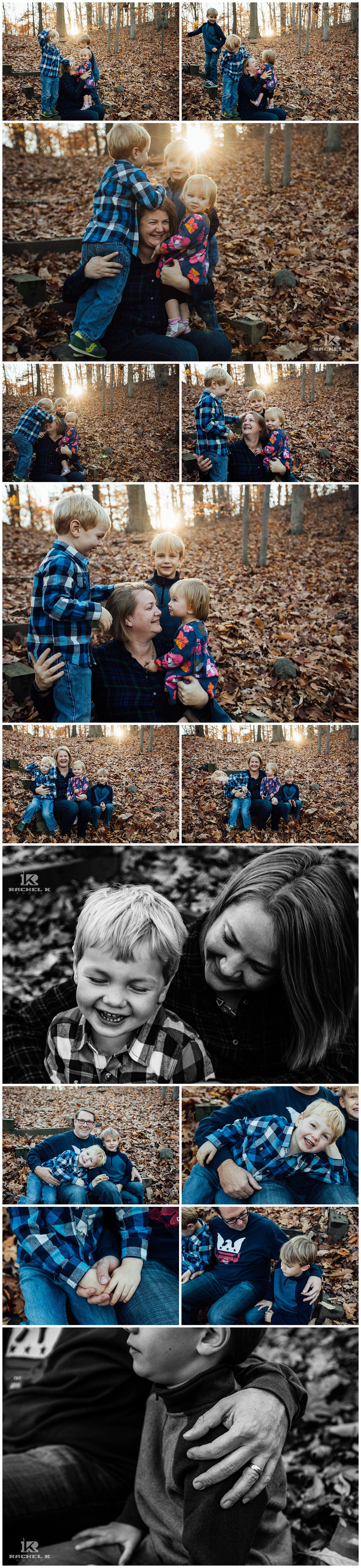 Centreville Virginia winter family session with three kids by Rachel K Photo