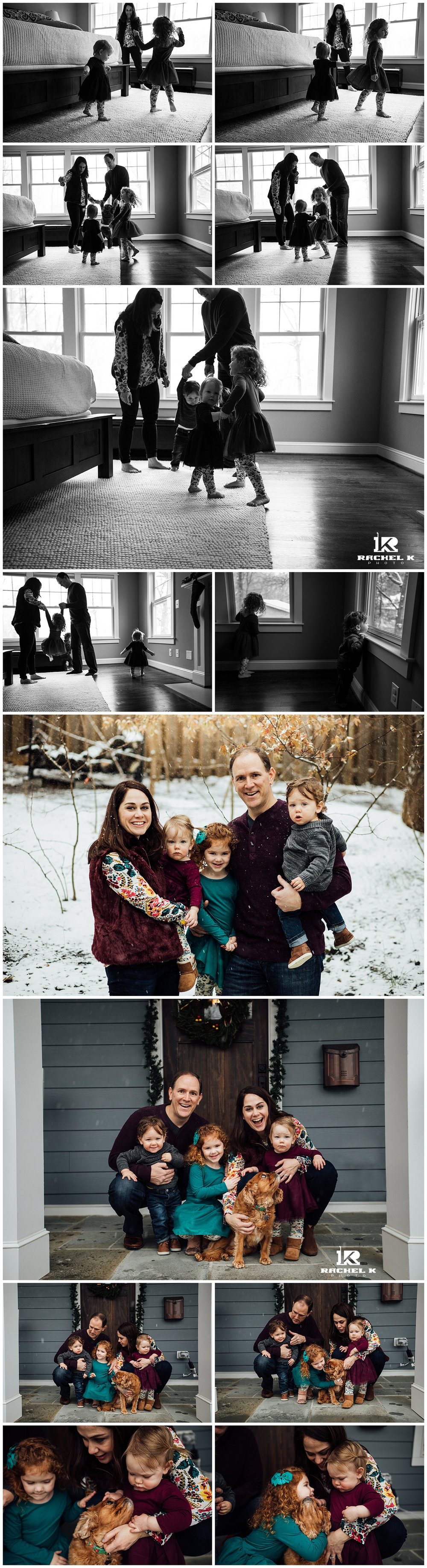 winter indoor family session with twins by Fairfax Virginia photographer Rachel K Photo