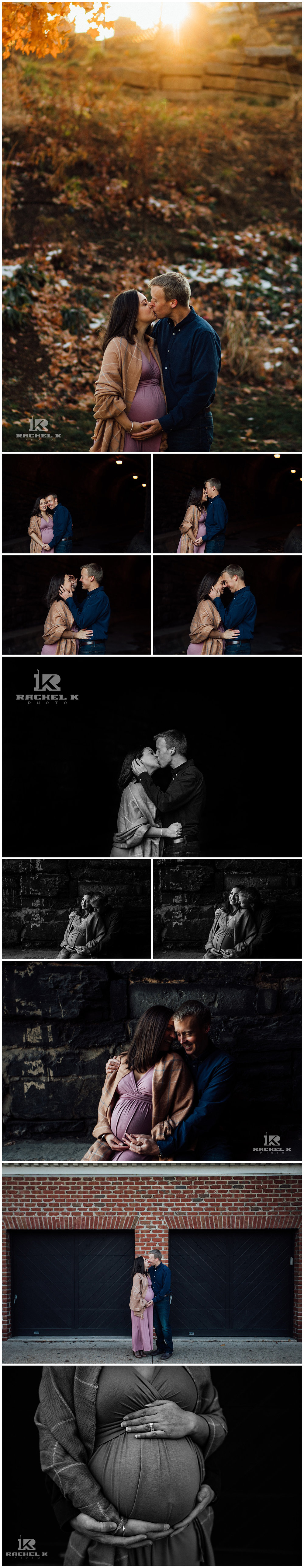 Winter Old Town Alexandria Wilkes tunnel maternity session by Rachel K Photo