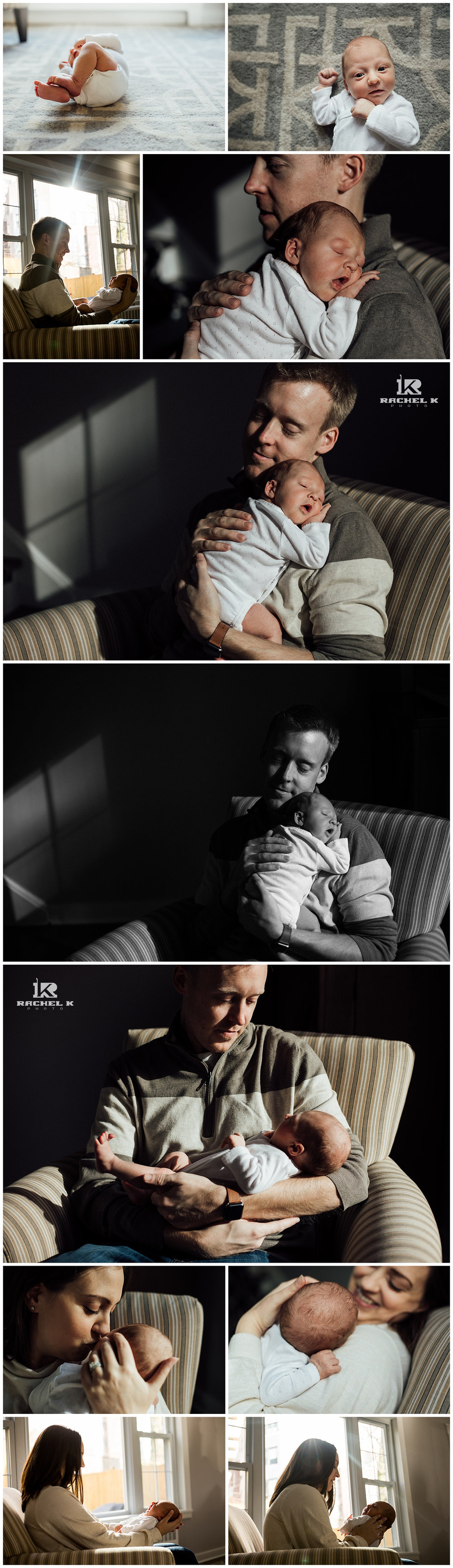 Fairfax newborn lifestyle session by Rachel K Photo