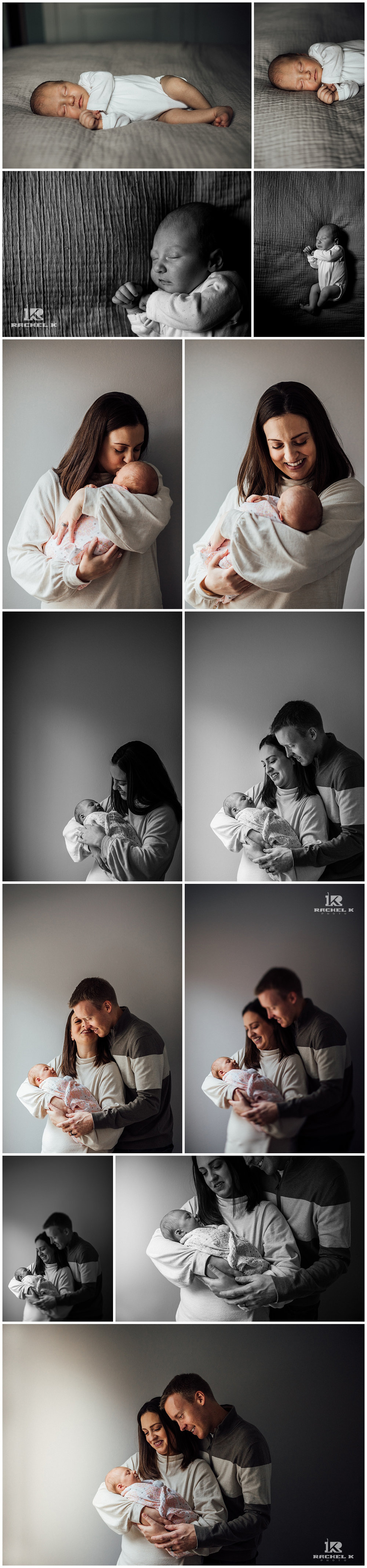 Arlington newborn lifestyle session by Rachel K Photo
