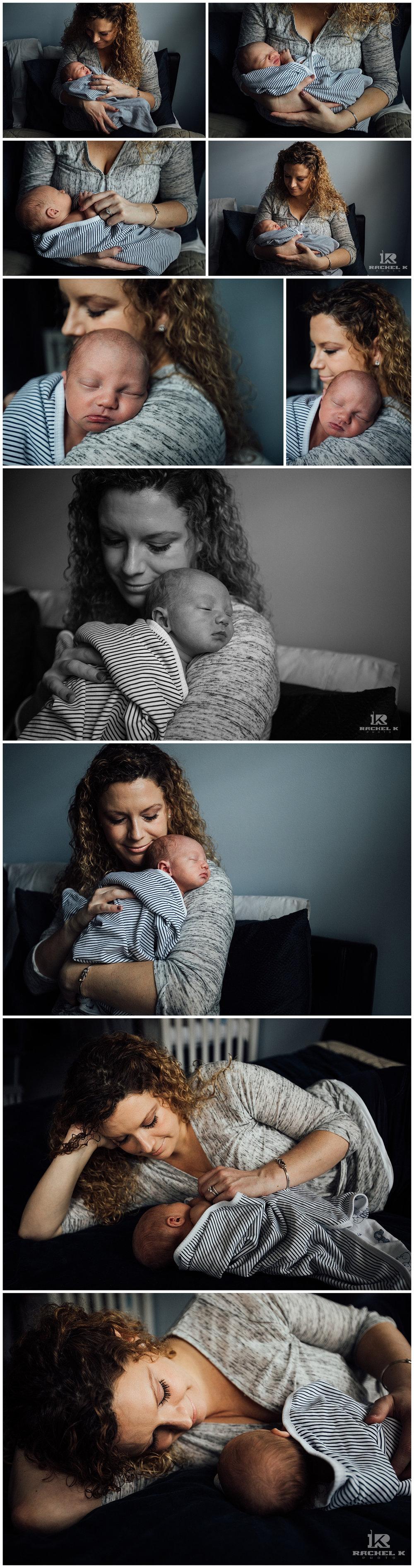 Fairfax newborn session with dog by Rachel K Photo
