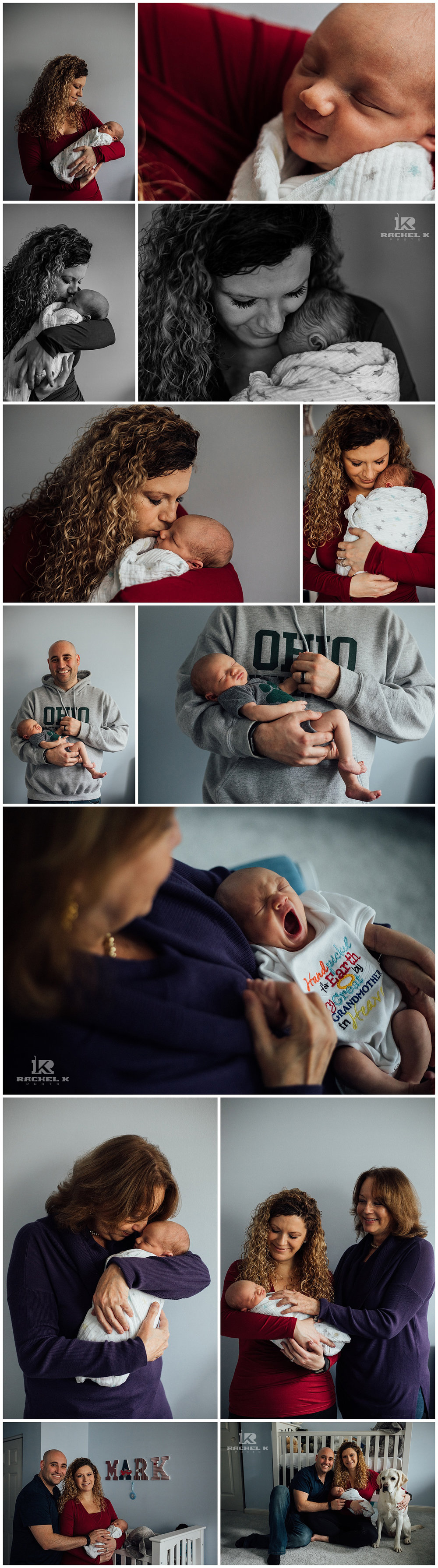 Centreville newborn session with dog by Rachel K Photo