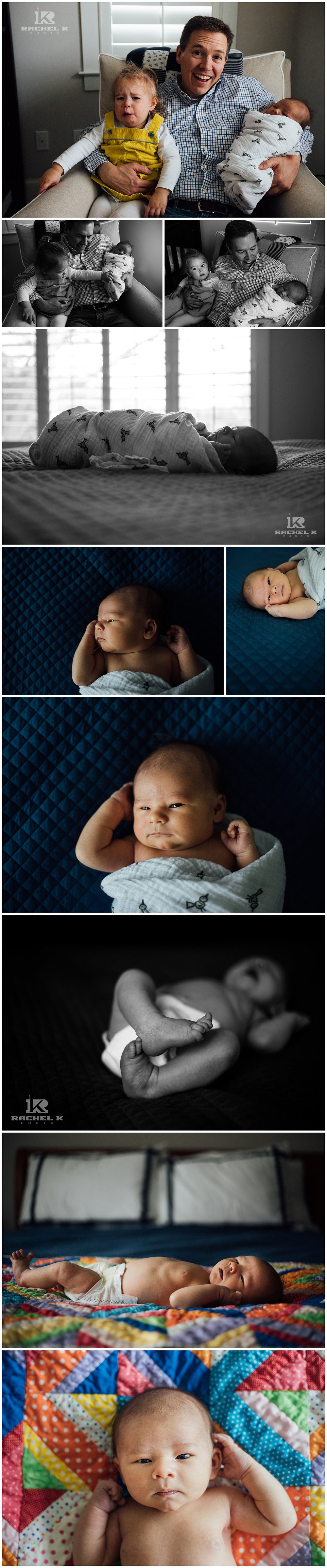 Indoor newborn session in McLean Virginia by Rachel K Photo