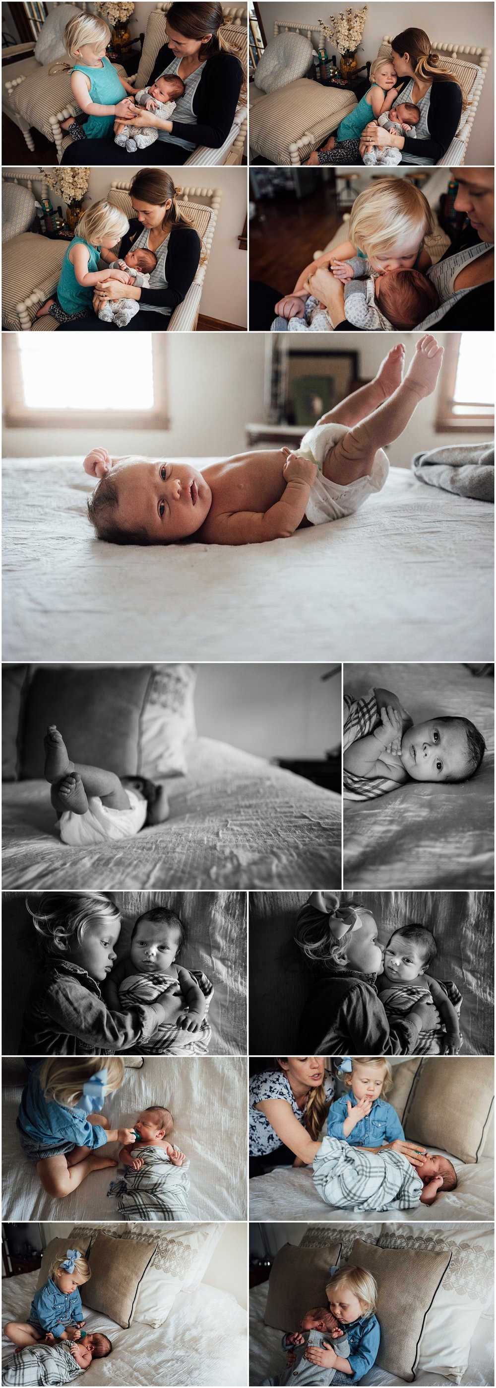Fairfax newborn session with three kids by Rachel K Photo