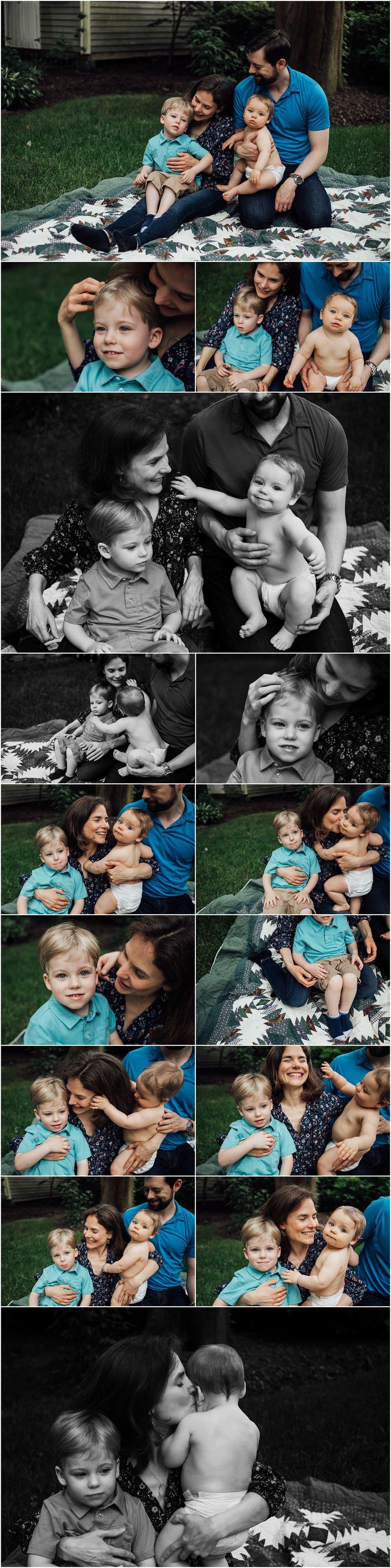 Brother's family session by Huntsville Alabama family photographer Rachel K Photo