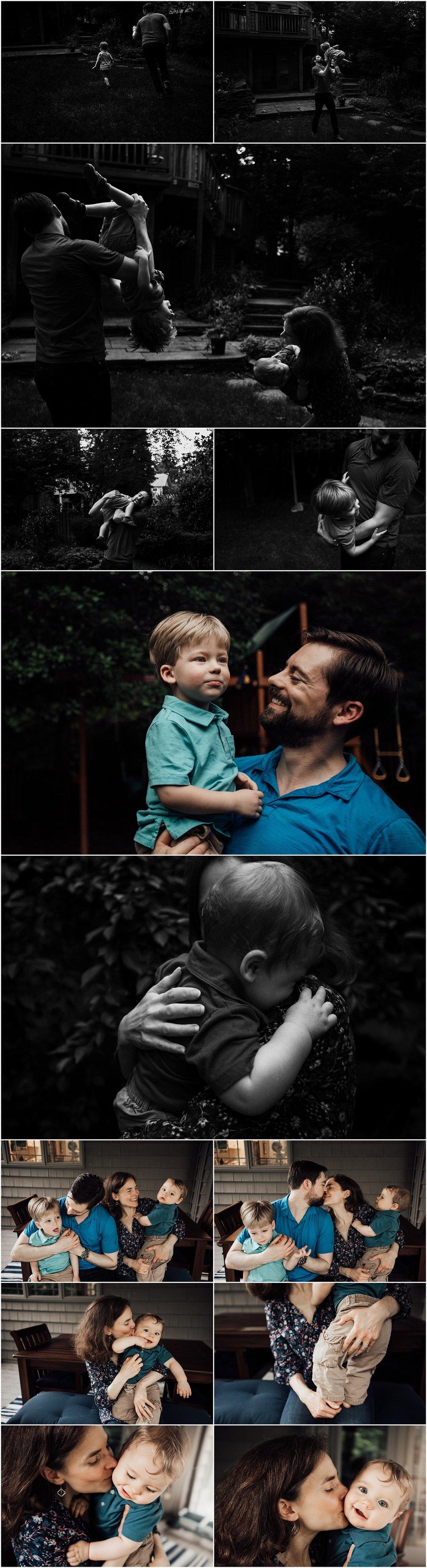 Backyard family or four session by Huntsville Alabama family photographer Rachel K Photo