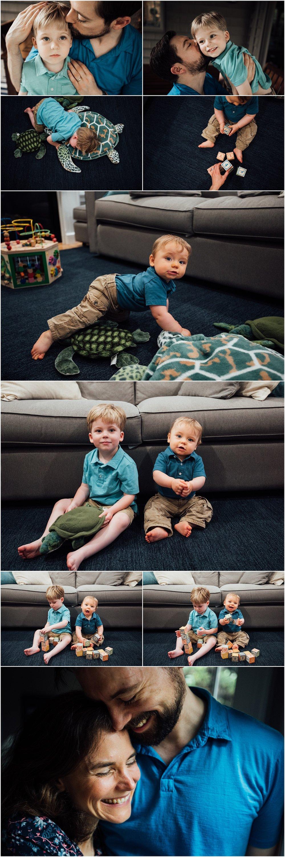 Indoor family session by Huntsville Alabama family photographer Rachel K Photo
