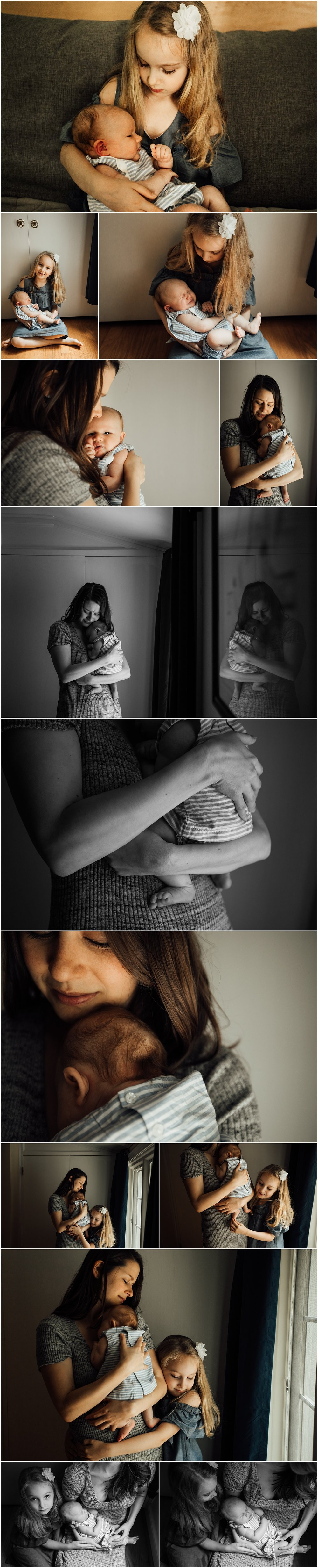 Madison and Huntsville Alabama newborn lifestyle session with sisters by Rachel K Photo