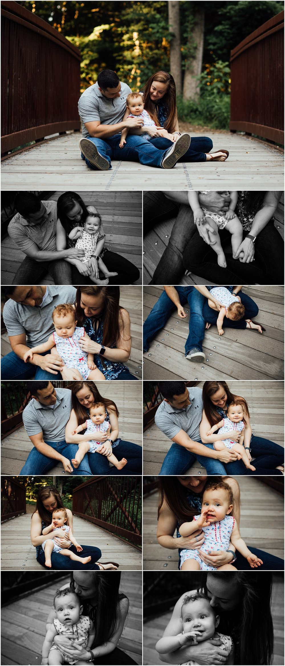 one year old family session at park by Madison Alabama photographer Rachel K Photo
