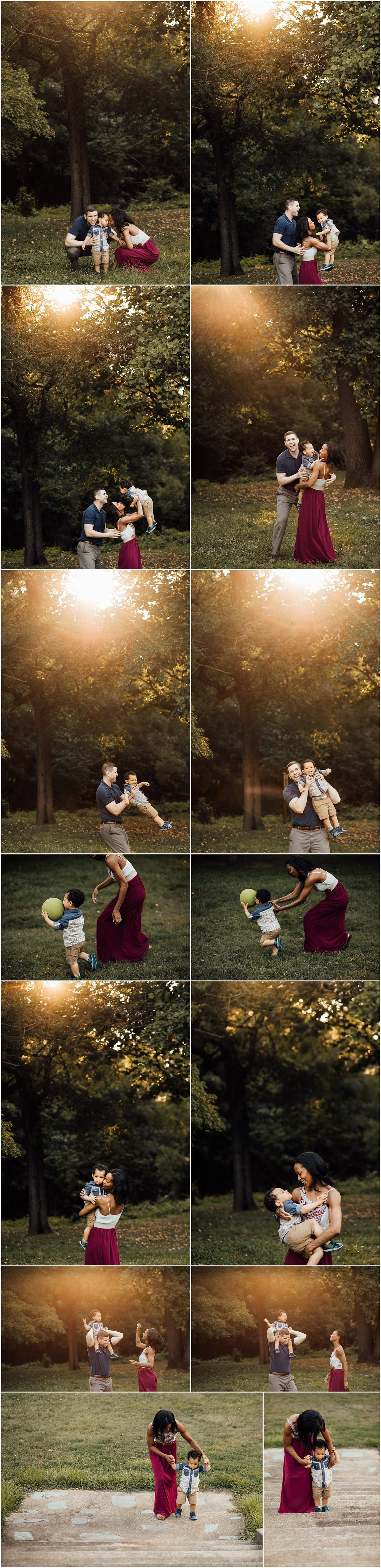 Family on location photo session with toddler  by Madison Alabama family photographer Rachel K Photo